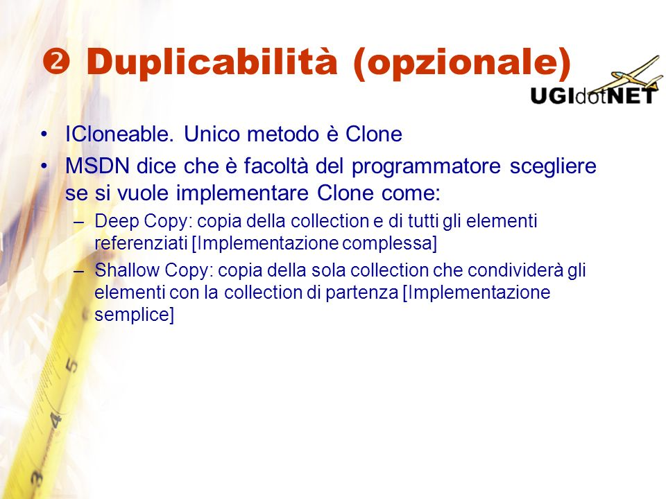  Duplicabilità (opzionale)