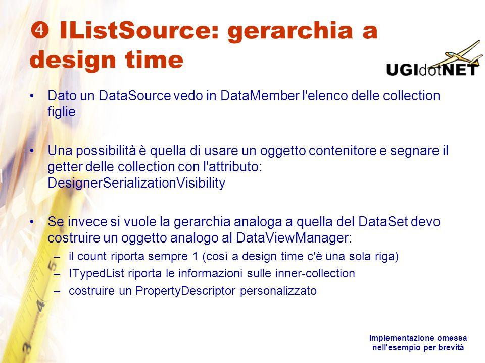  IListSource: gerarchia a design time