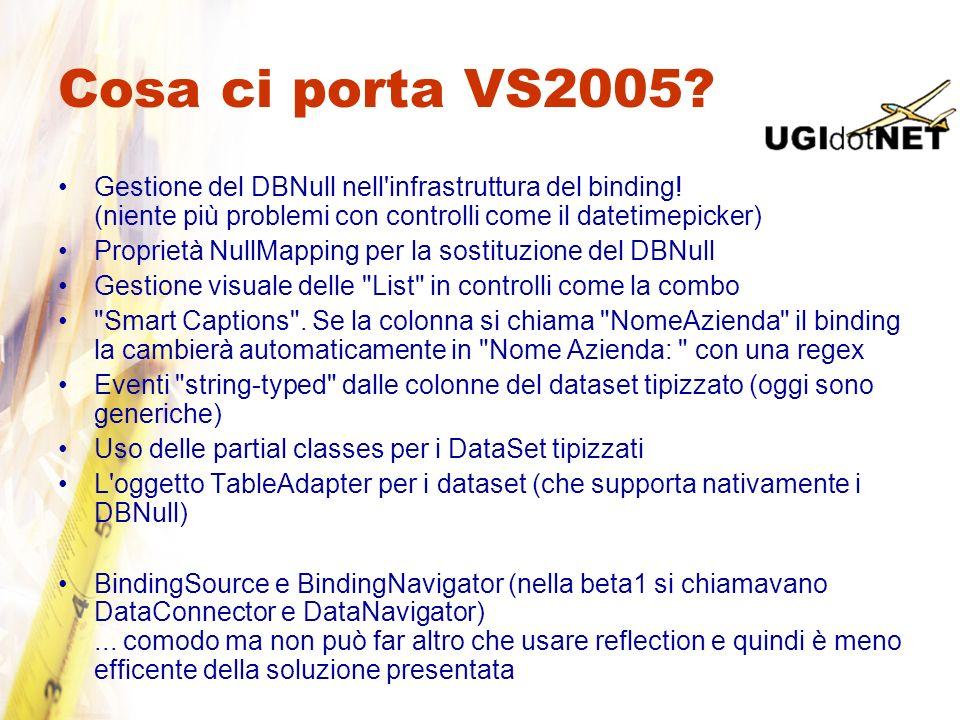 Cosa ci porta VS2005 Gestione del DBNull nell infrastruttura del binding! (niente più problemi con controlli come il datetimepicker)