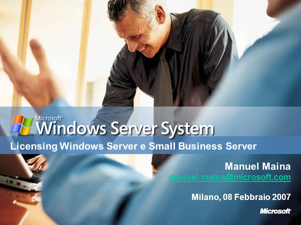 Licensing Windows Server e Small Business Server