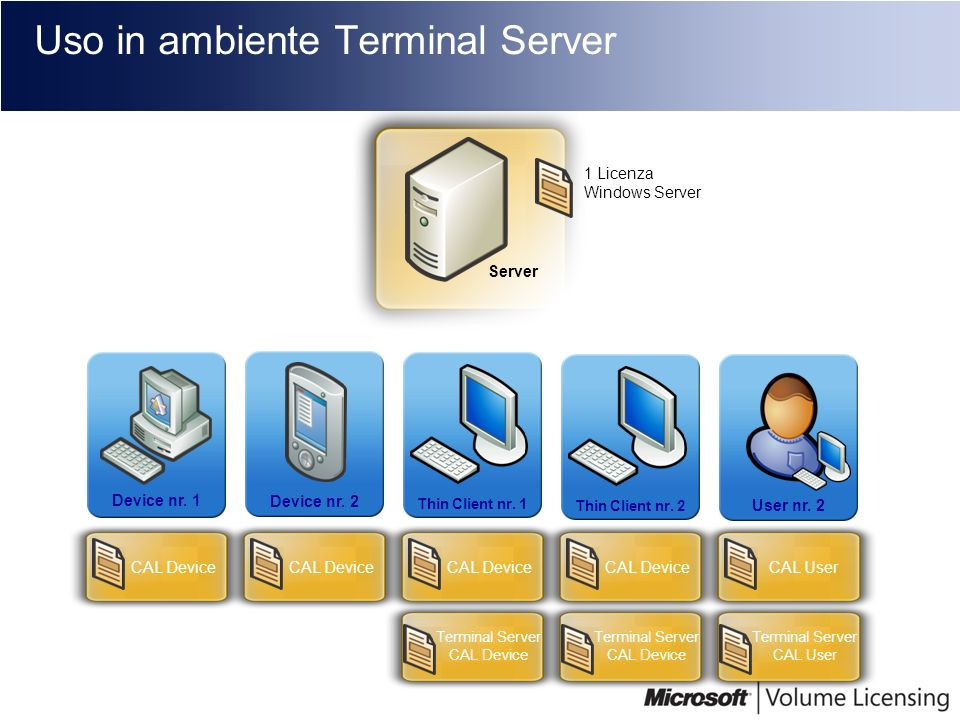Uso in ambiente Terminal Server
