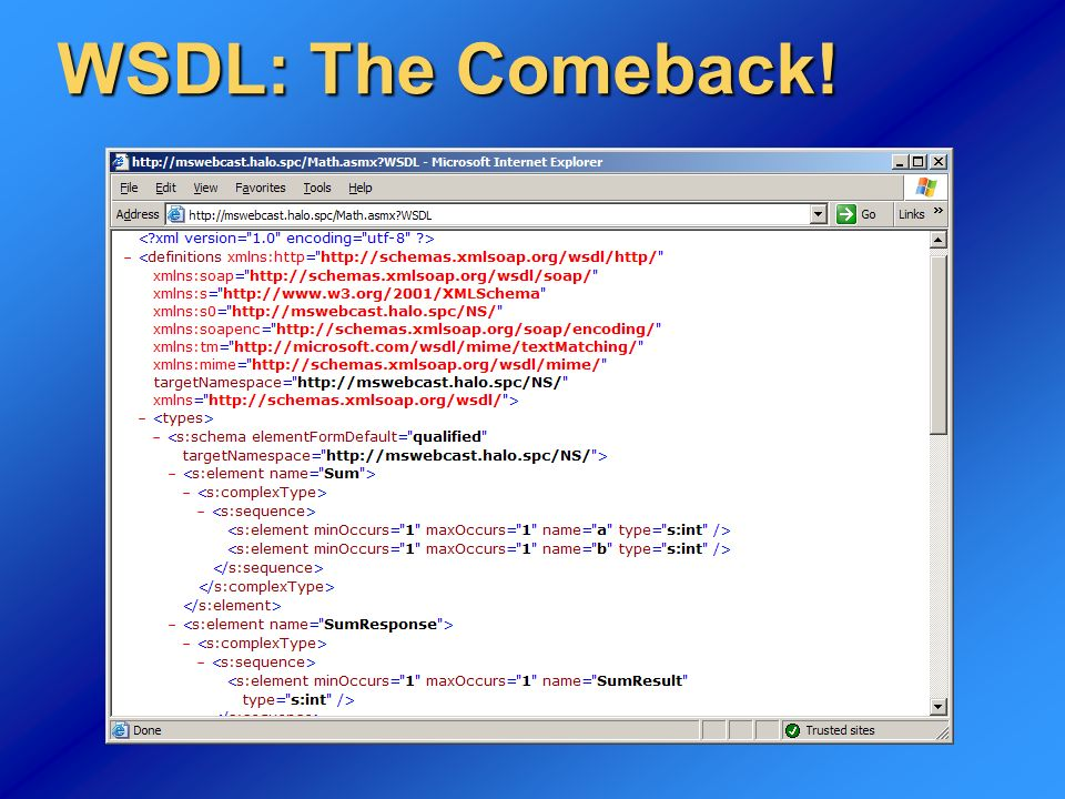 WSDL: The Comeback!