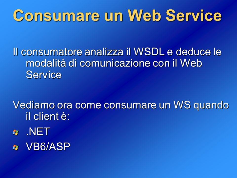 Consumare un Web Service