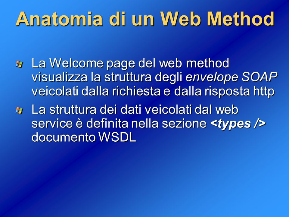 Anatomia di un Web Method
