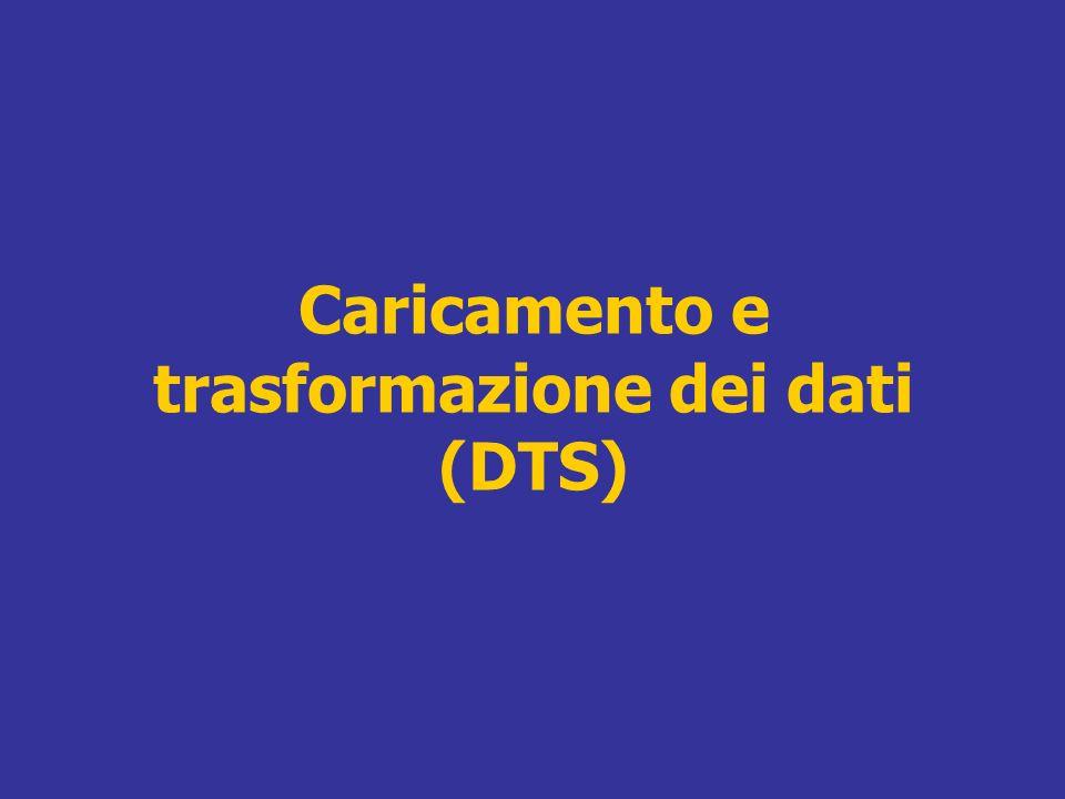 Caricamento e trasformazione dei dati (DTS)