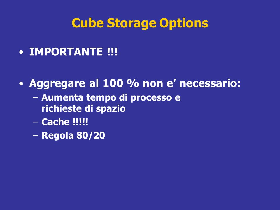 Cube Storage Options IMPORTANTE !!!