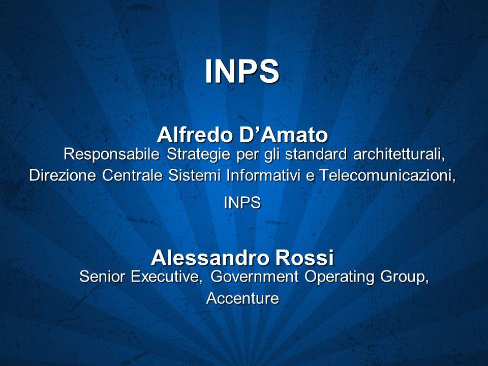 INPS Alfredo D'Amato Responsabile Strategie per gli standard architetturali, Direzione Centrale Sistemi Informativi e Telecomunicazioni,