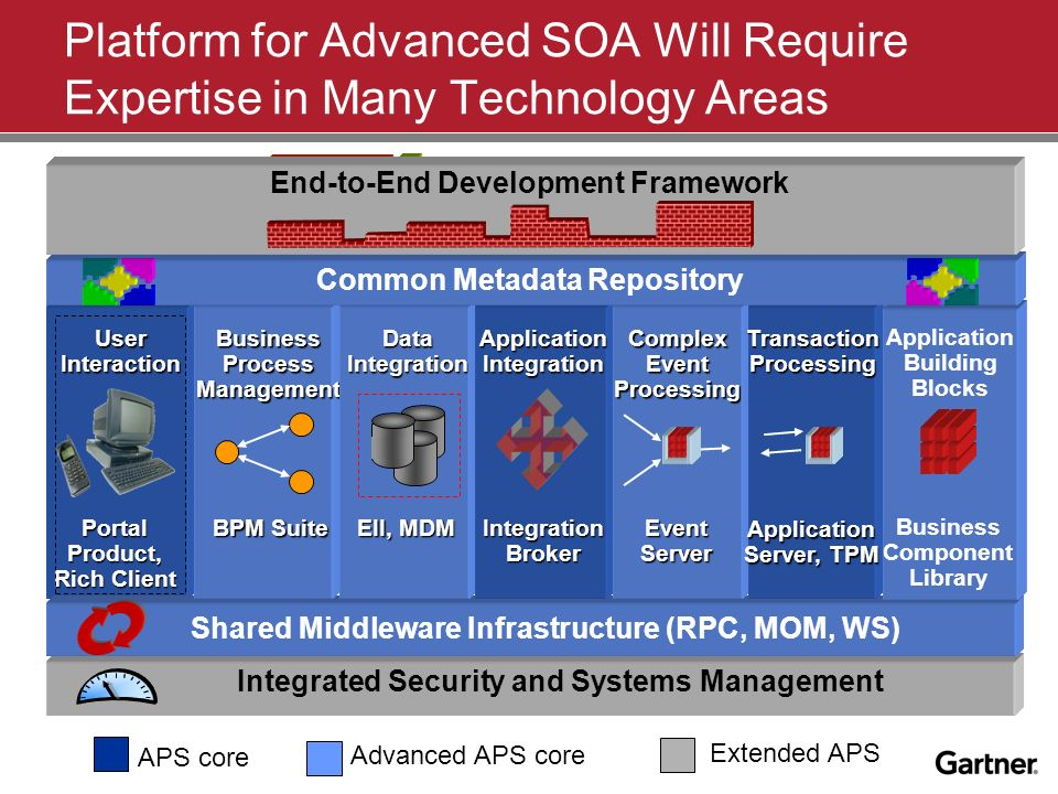 Platform for Advanced SOA Will Require Expertise in Many Technology Areas