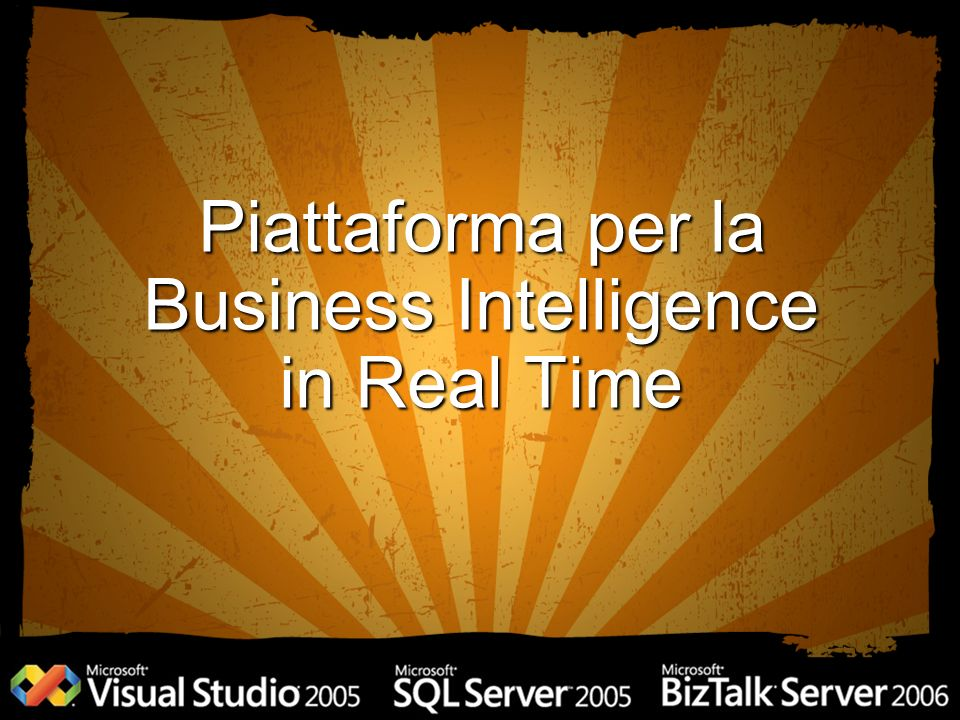 Piattaforma per la Business Intelligence in Real Time