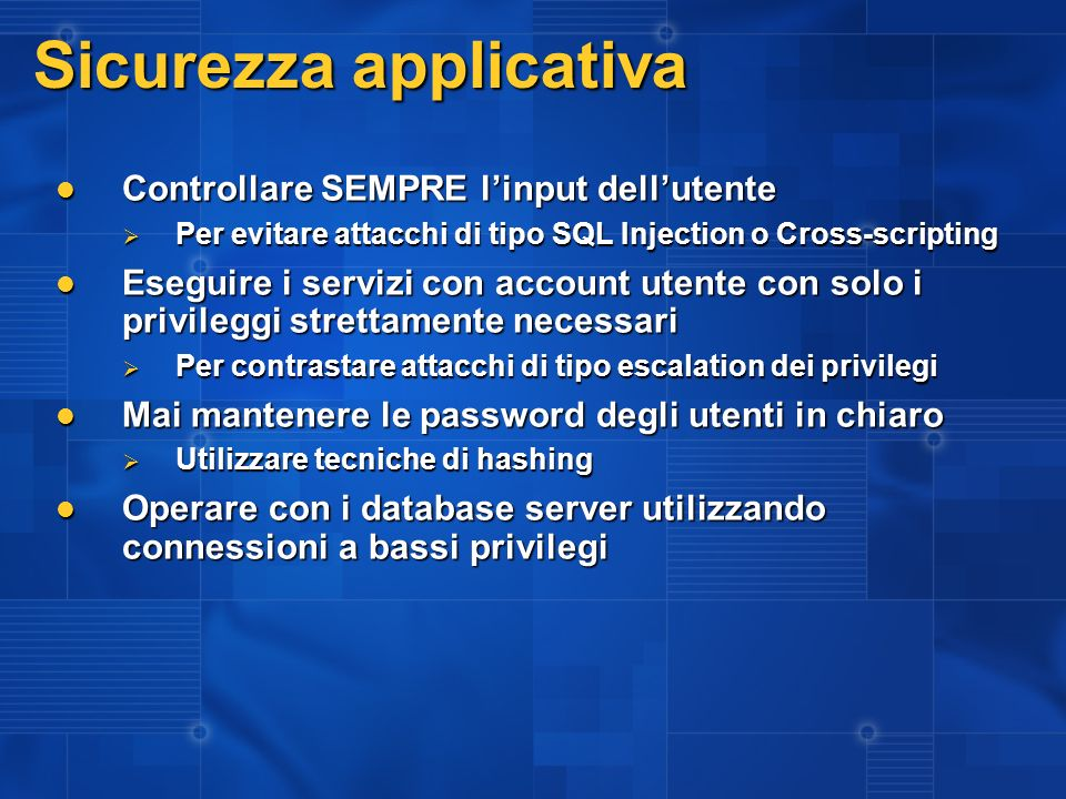 Sicurezza applicativa