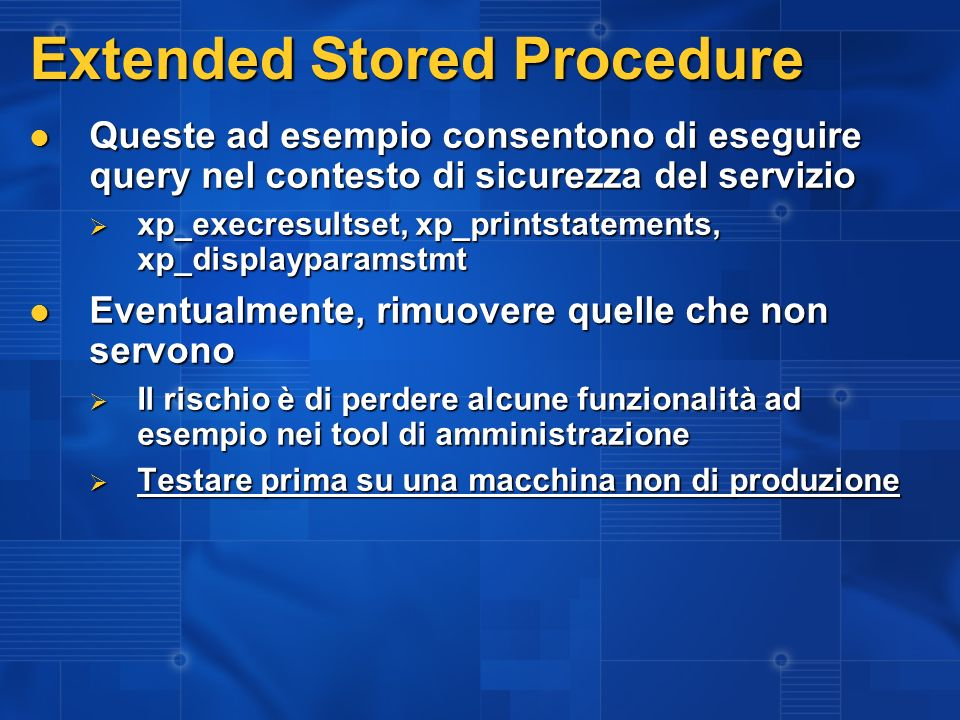 Extended Stored Procedure
