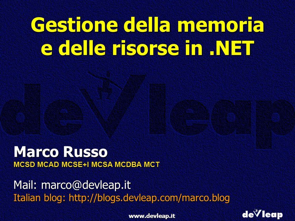 Gestione della memoria e delle risorse in .NET