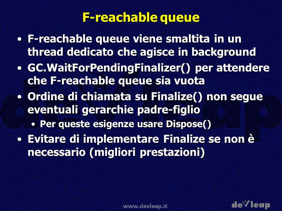 F-reachable queue F-reachable queue viene smaltita in un thread dedicato che agisce in background.