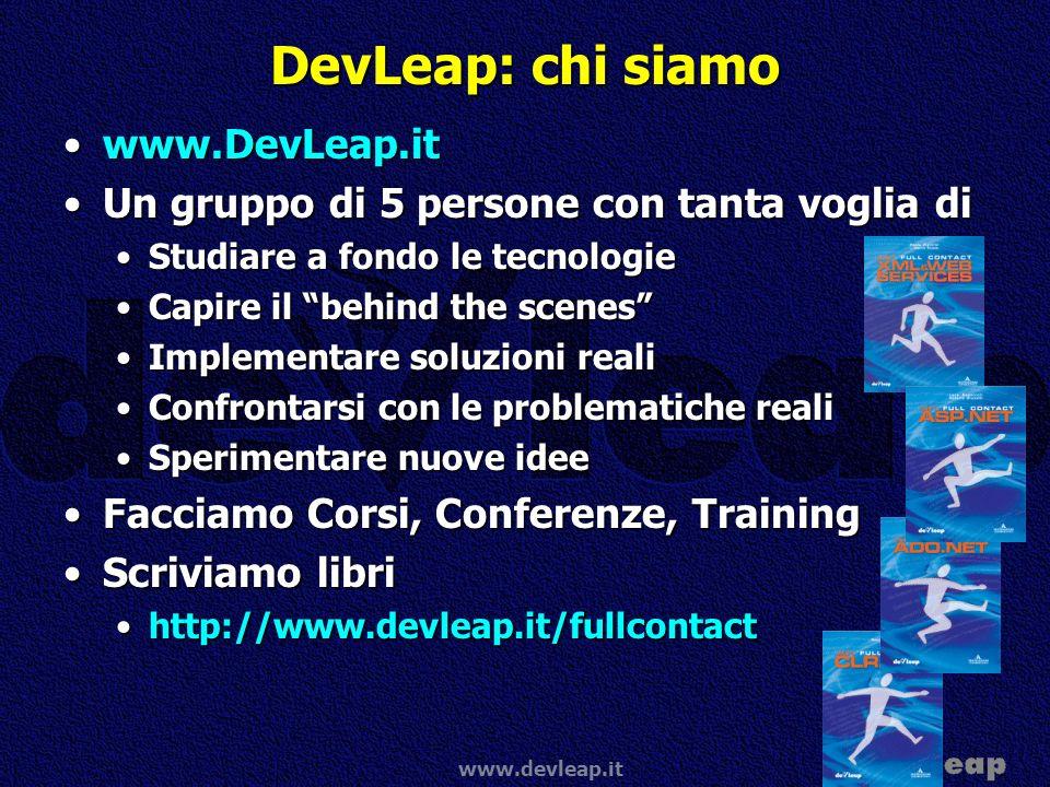 DevLeap: chi siamo www.DevLeap.it