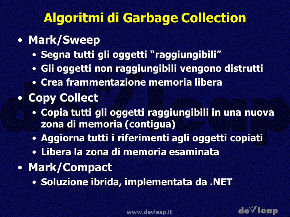 Algoritmi di Garbage Collection