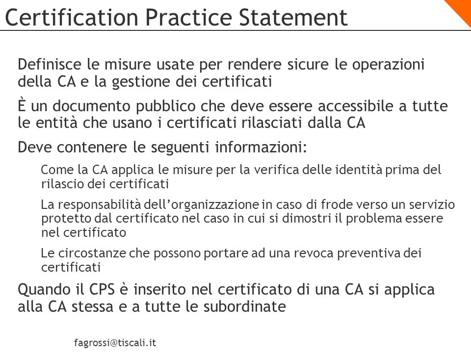 Certification Practice Statement