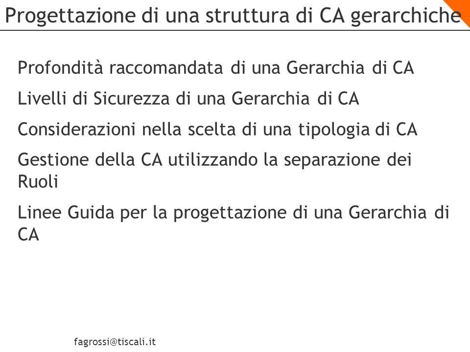 Progettazione di una struttura di CA gerarchiche