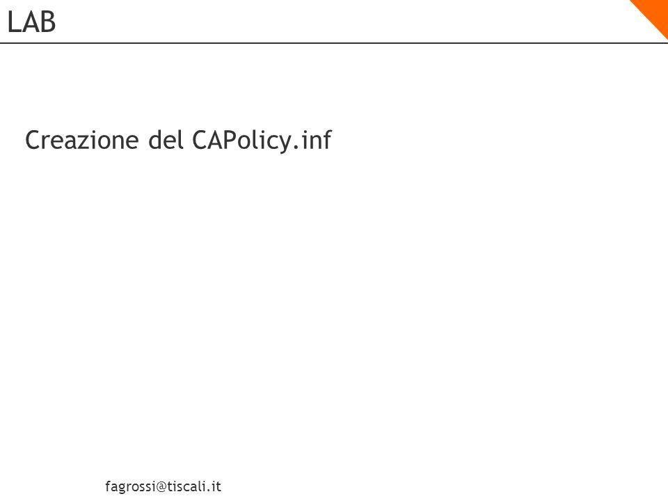 LAB Creazione del CAPolicy.inf