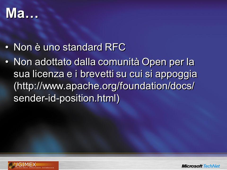 Ma… Non è uno standard RFC
