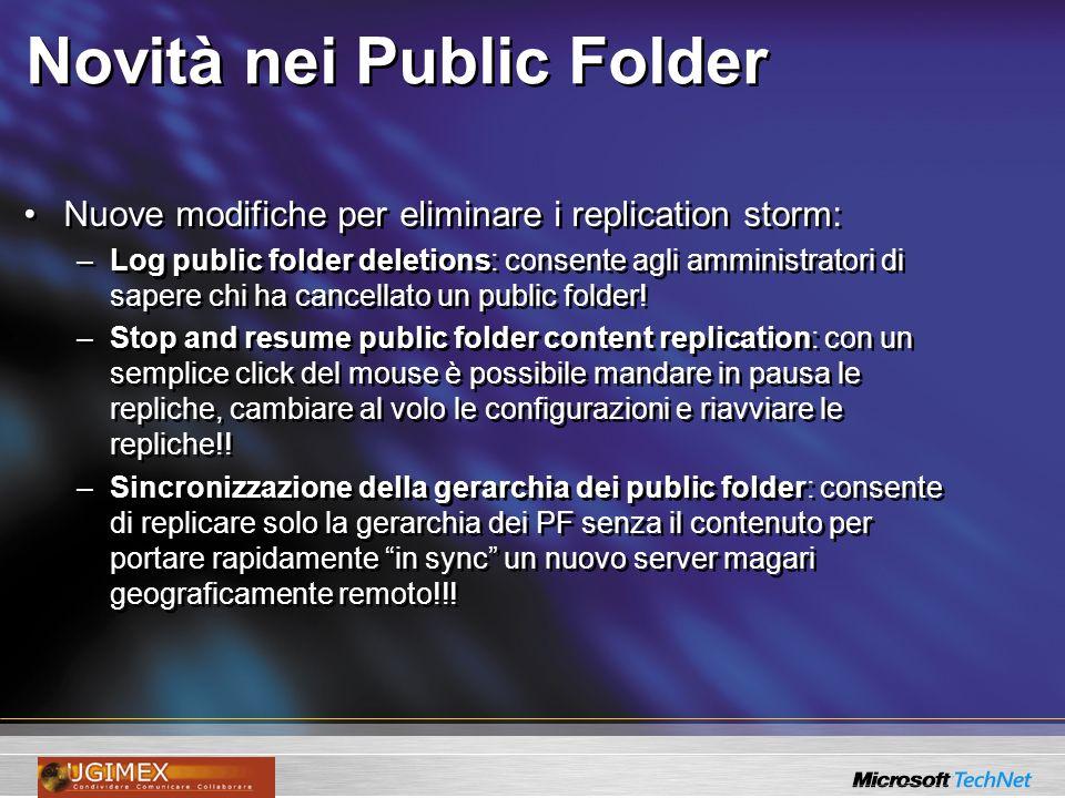 Novità nei Public Folder