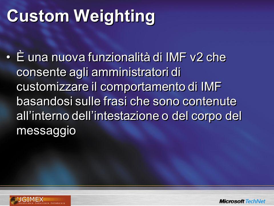 Custom Weighting