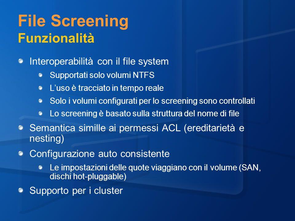 File Screening Funzionalità