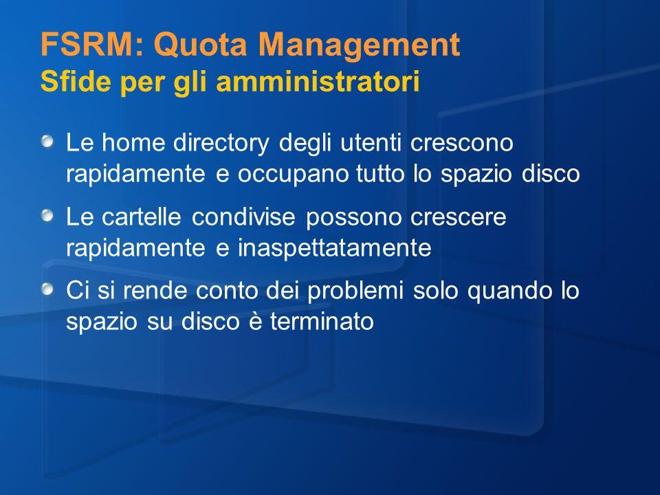 FSRM: Quota Management Sfide per gli amministratori