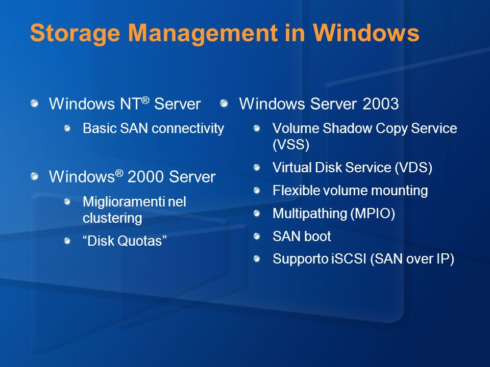 Storage Management in Windows