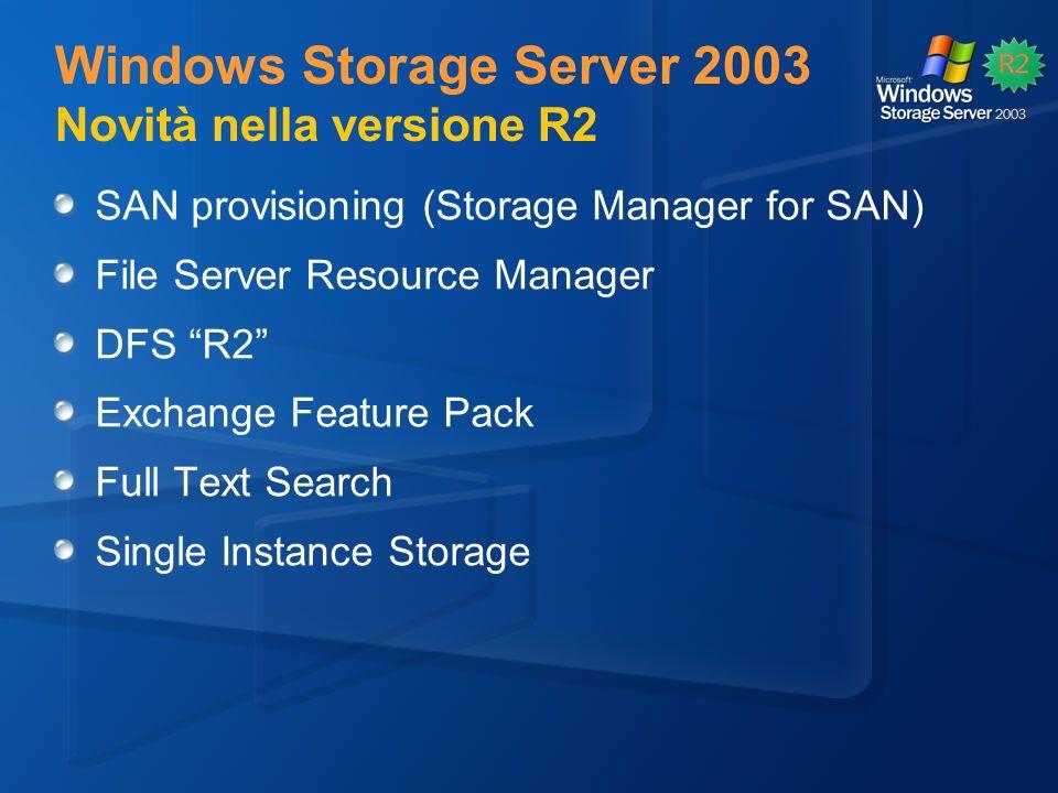 Windows Storage Server 2003 Novità nella versione R2