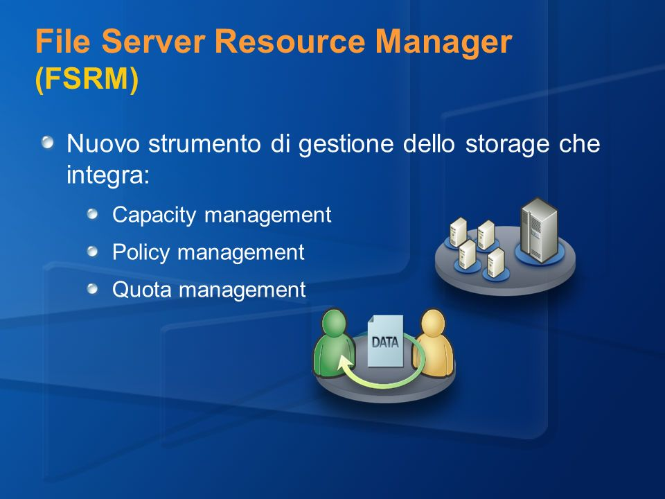 File Server Resource Manager (FSRM)