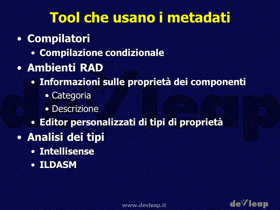 Tool che usano i metadati