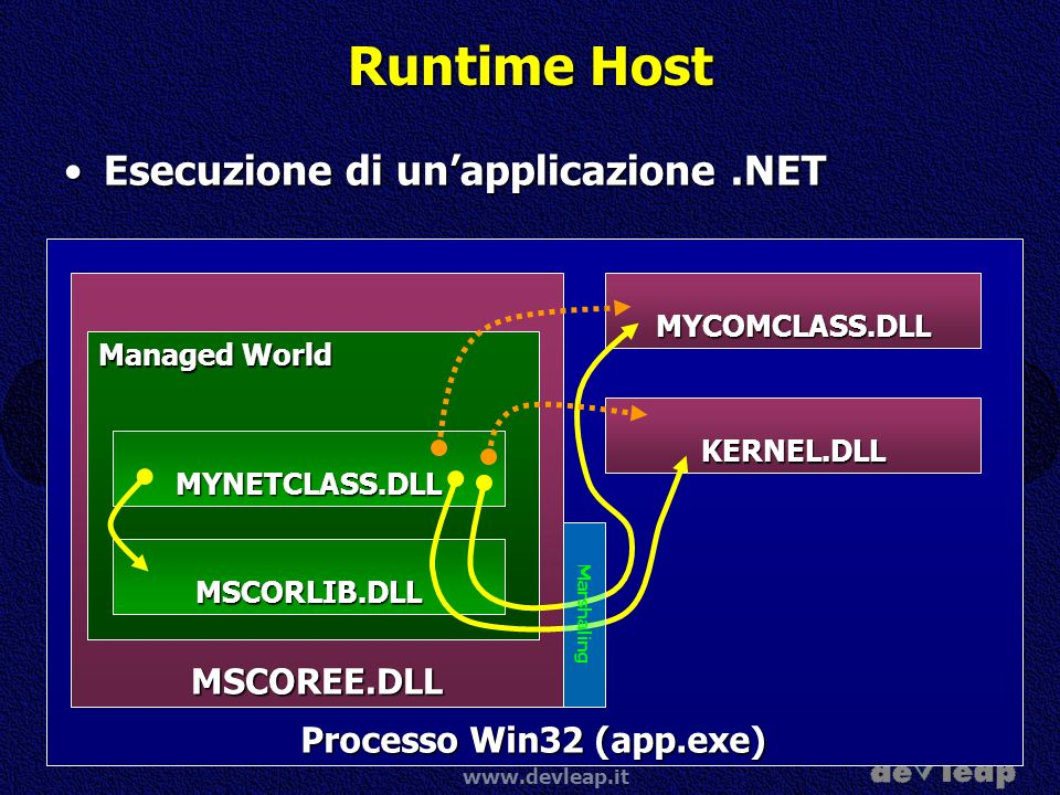 Runtime Host Esecuzione di un'applicazione .NET MSCOREE.DLL