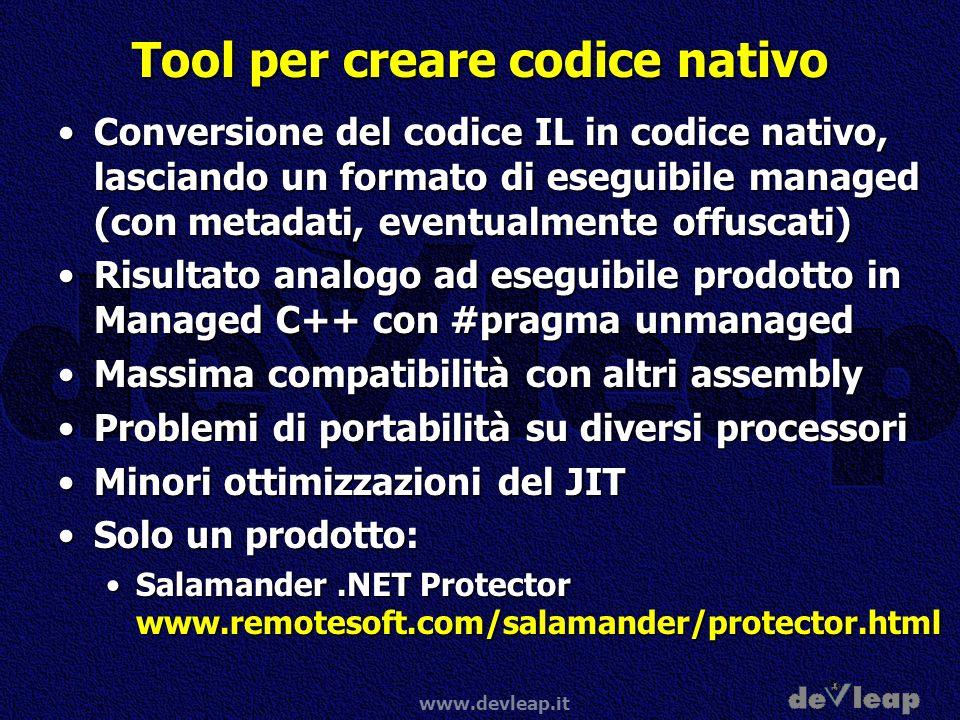 Tool per creare codice nativo