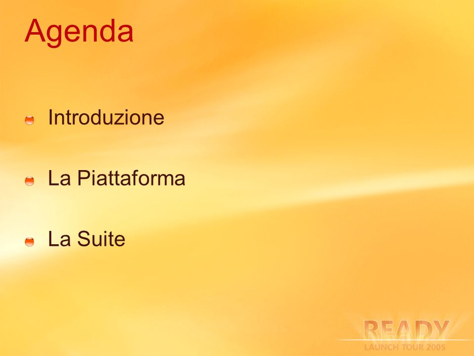 Agenda Introduzione La Piattaforma La Suite 3/27/2017 2:27 AM