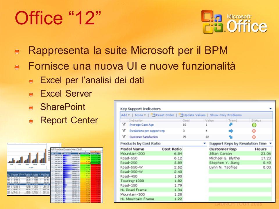 Office 12 Rappresenta la suite Microsoft per il BPM
