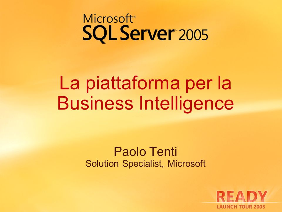 La piattaforma per la Business Intelligence