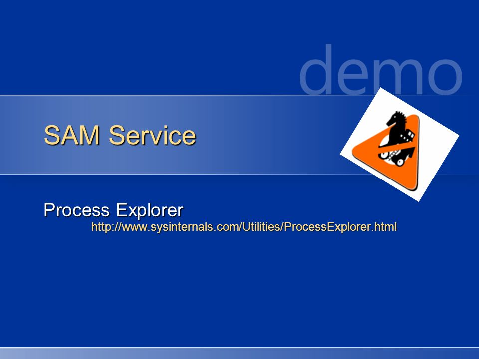 SAM Service Process Explorer