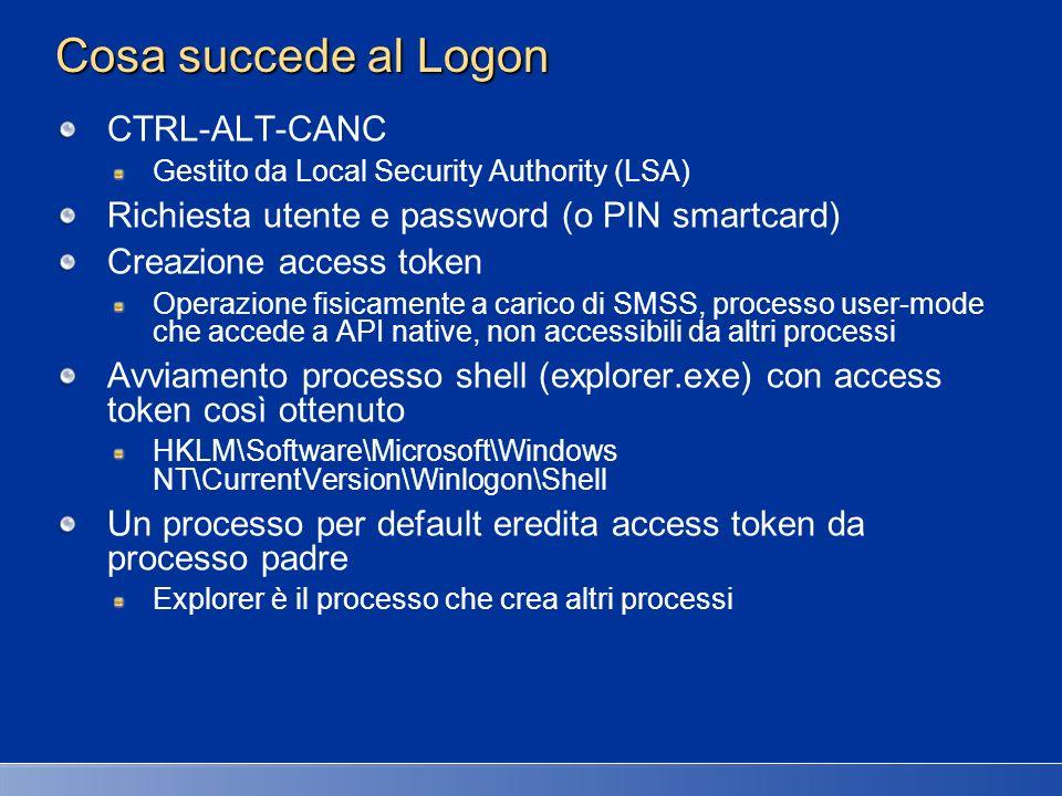 Cosa succede al Logon CTRL-ALT-CANC