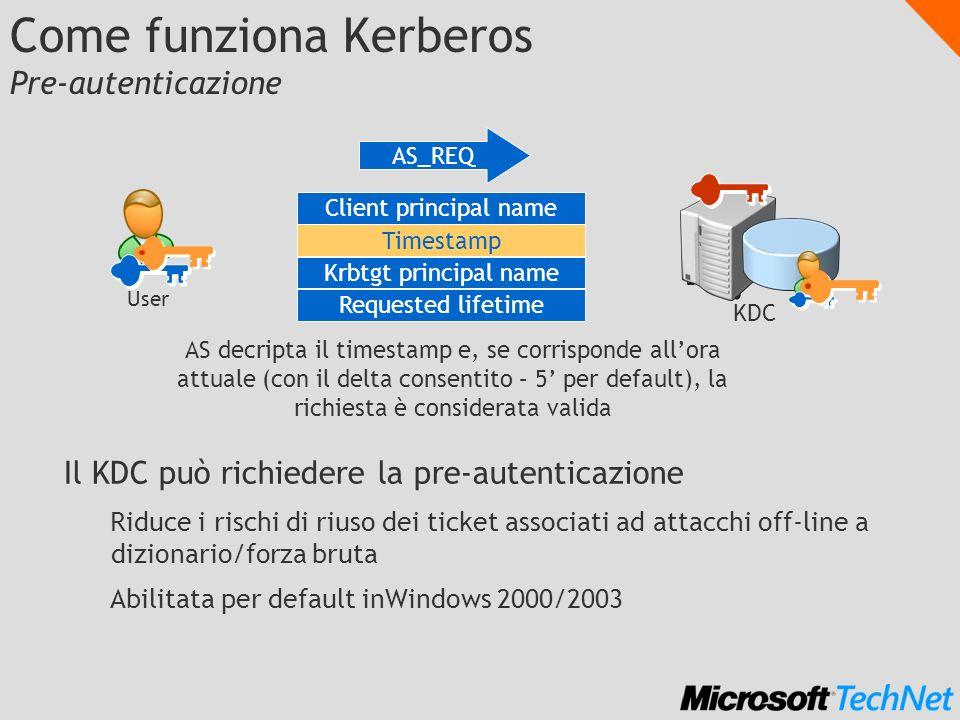 Come funziona Kerberos Pre-autenticazione
