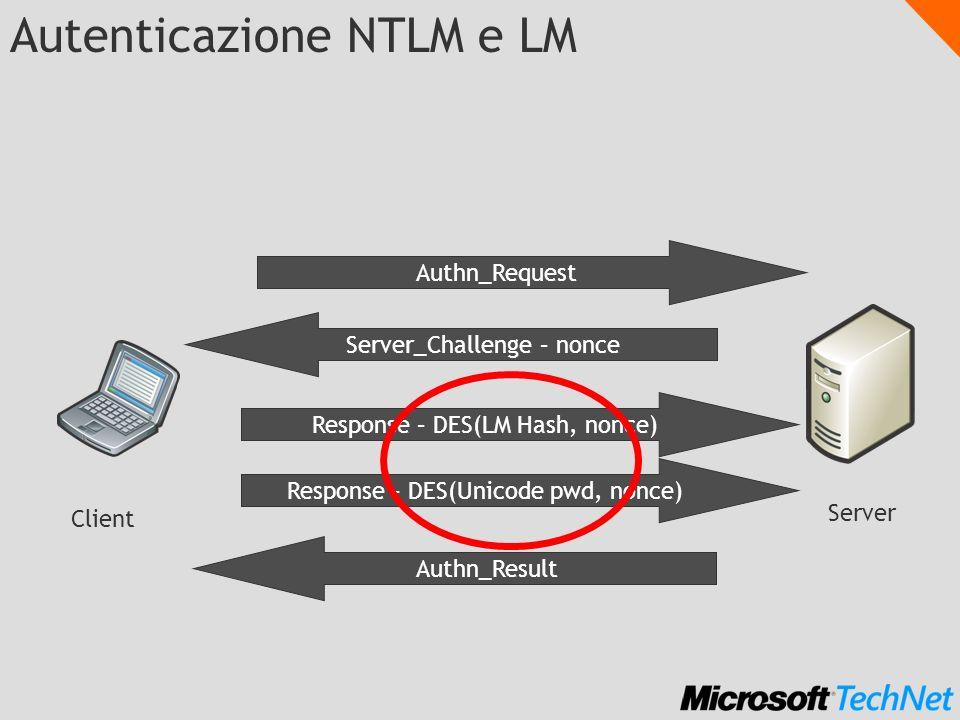Autenticazione NTLM e LM
