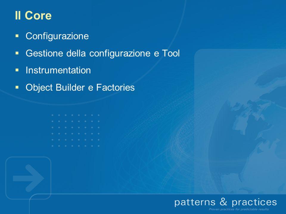 Il Core Configurazione Gestione della configurazione e Tool