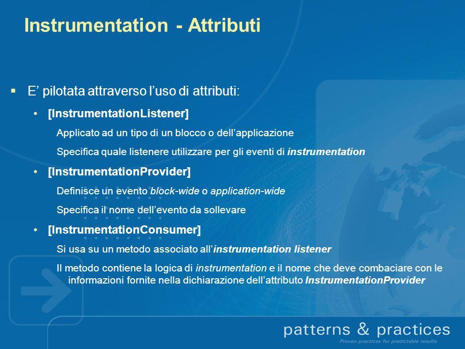 Instrumentation - Attributi