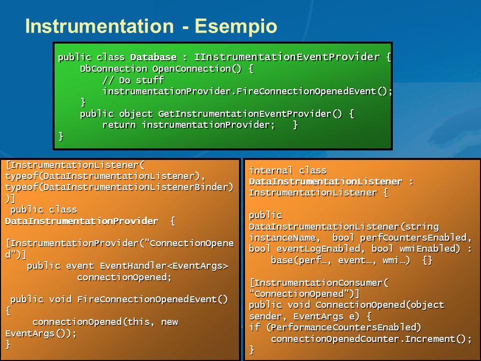 Instrumentation - Esempio
