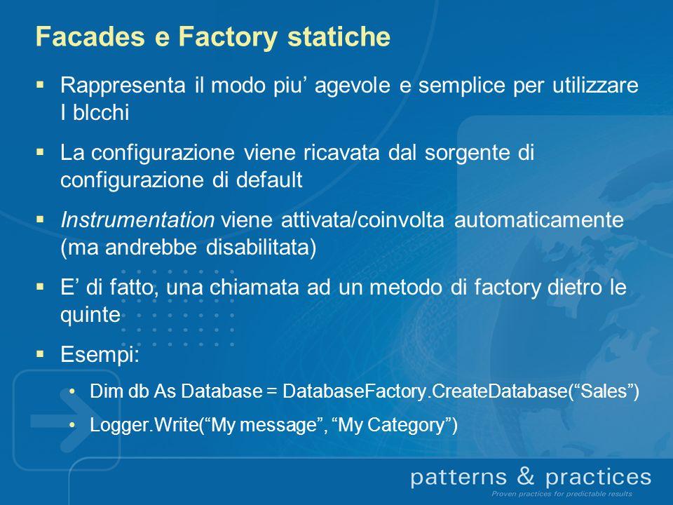 Facades e Factory statiche