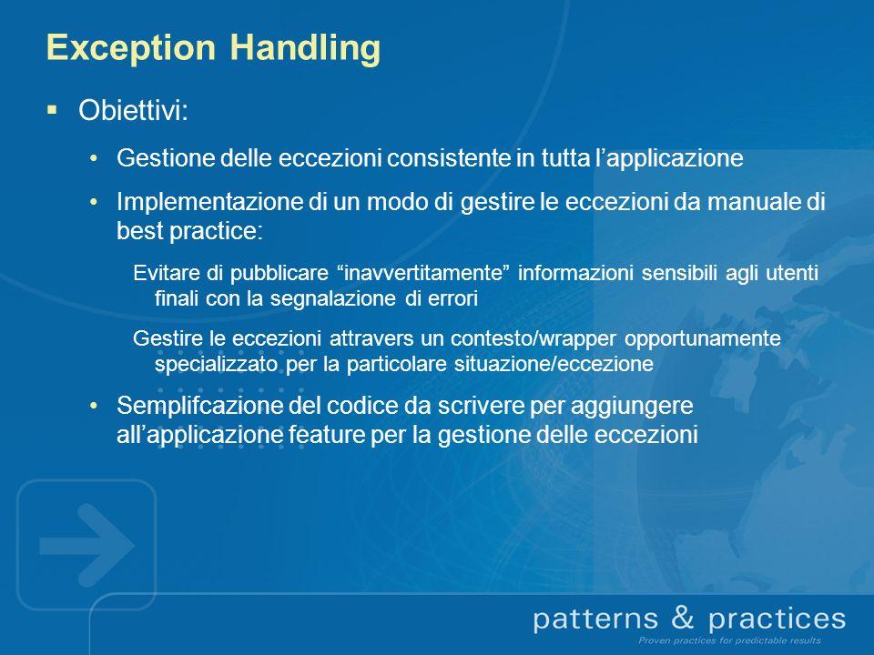 Exception Handling Obiettivi:
