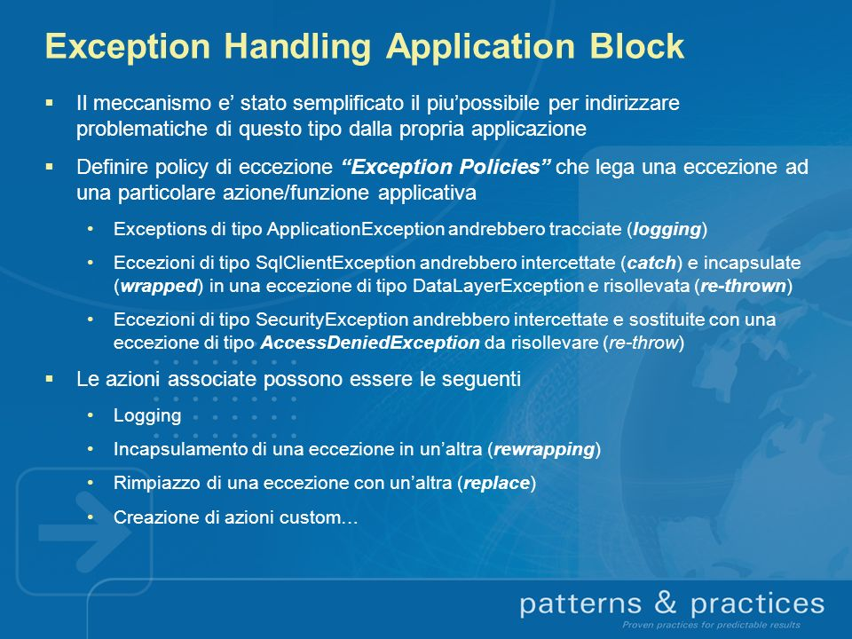 Exception Handling Application Block