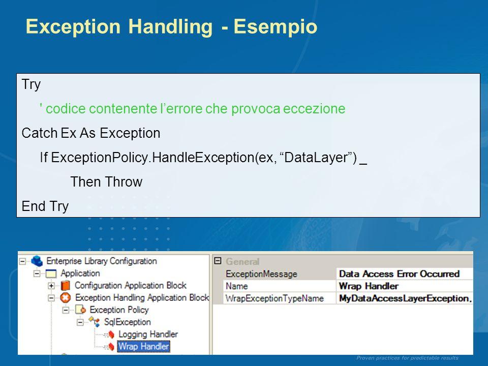 Exception Handling - Esempio