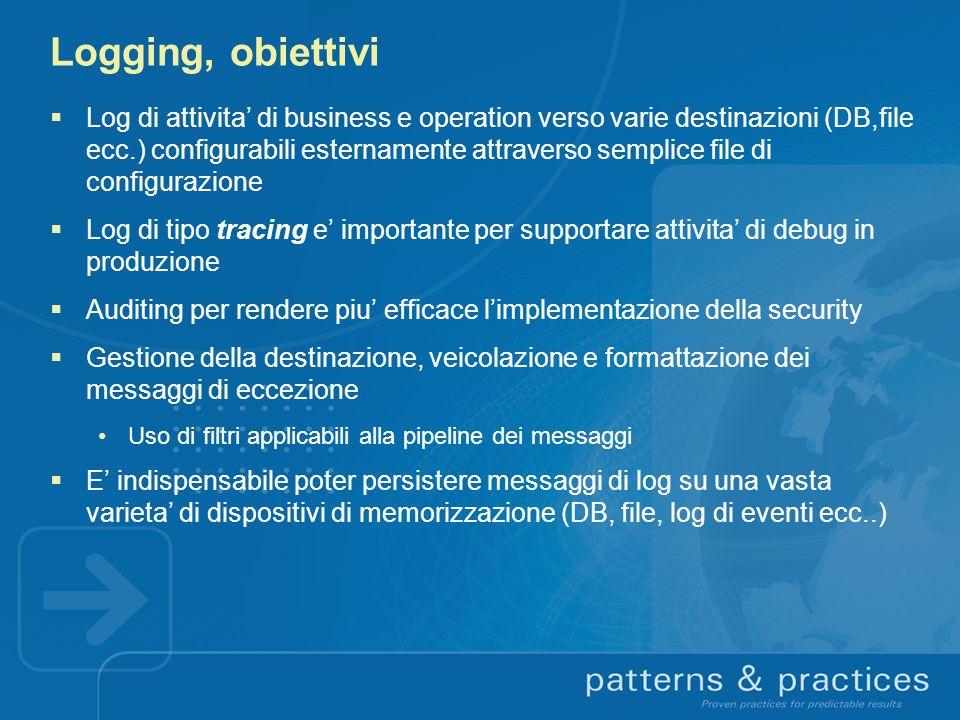 Logging, obiettivi