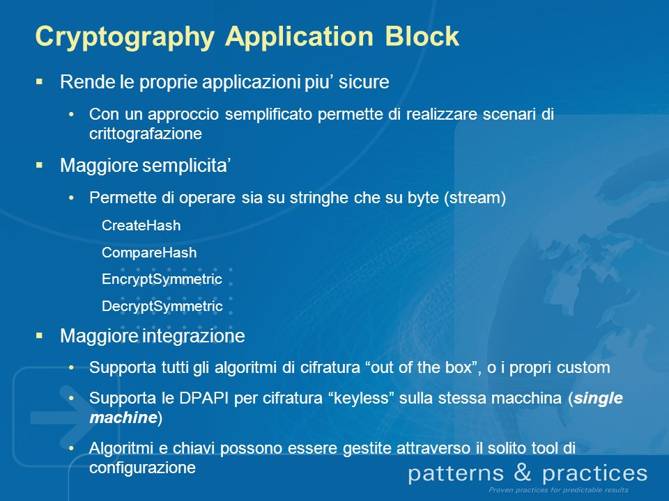 Cryptography Application Block