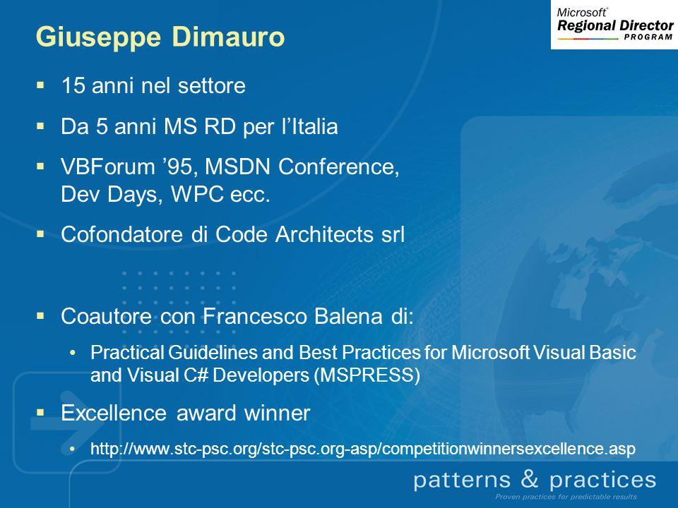 Giuseppe Dimauro 15 anni nel settore Da 5 anni MS RD per l'Italia